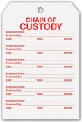 "4""x6"" Chain of Custody Tags Chain of Custody Tags"