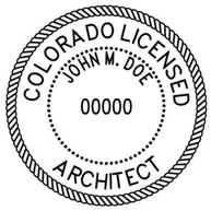 Colorado Architectural stamp