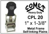 CPL-20 Comet Plain Self-Inking Stamp Comet CPL 20