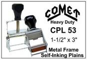 CPL-53 Comet Plain Self-Inking Stamp Comet CPL 53