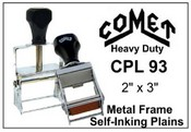 CPL-93 Comet Plain Self-Inking Stamp Comet CPL 93