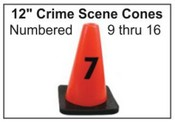 "12"" Crime Scene Cones - Numbers 9-16