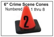 Crime Scene Cones - Numbers 1-8
