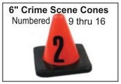 Crime Scene Cones - Numbers 9-16