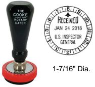 No. 1 Cooke Time & Date Stamp
