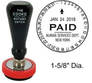 No. 4 Cooke Time & Date Stamp