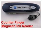 Magnetic Ink Reader  COUNTER Finger Magnetic Ink Readers