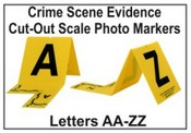 Photo Marker with Cut-Out Scale - A - Z Evidence Photo Markers