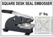 "2"" Square Emossing Seal