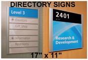 Mini Directory Sign