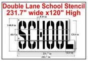 DOUBLE LANE SCHOOL STENCIL