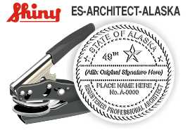 ALASKA Architect Embossing Seal