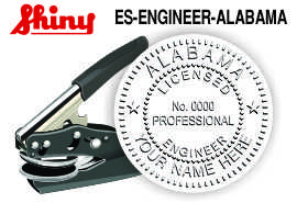 ALABAMA Engineer Embossing Seal