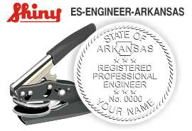 ARKANSAS Engineer Embossing Seal