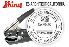 CALIFORNIA Architect Embossing Seal