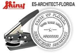 Florida Architect Embossing Seal