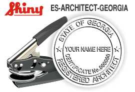 Georgia Architect Embossing Seal