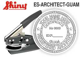 Guam Architect Embossing Seal