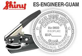 Guam Engineer Embossing Seal