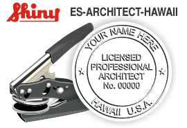 Hawaii Architect Embossing Seal