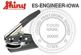 Iowa Engineer Embossing Seal