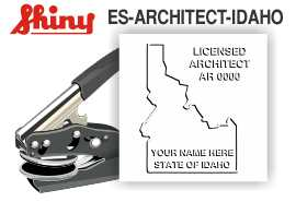 Idaho Architect Embossing Seal