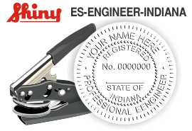 Indiana Engineer Embossing Seal