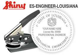 Louisiana Engineer Embossing Seal