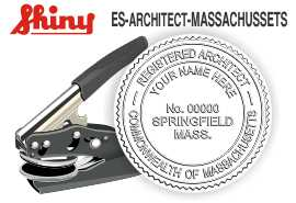 Massachusetts Architect Embossing Seal