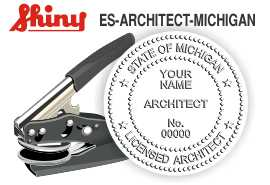 Michigan Architect Embossing Seal