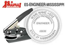 Mississippi Engineer Embossing Seal