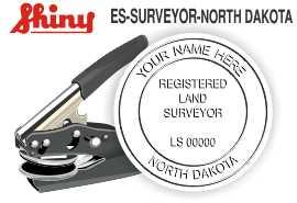 North Dakota Surveyor Embossing Seal