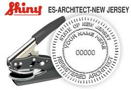 NEW JERSEY Architect Embossing Seal