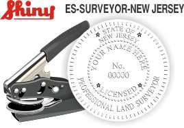 New Jersey Surveyor Embossing Seal