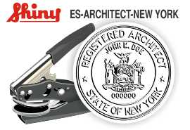 New York Architect Embossing Seal
