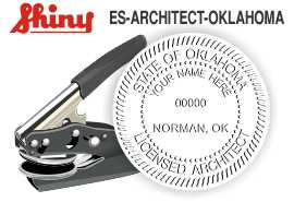 Oklahoma Architect Embossing Seal