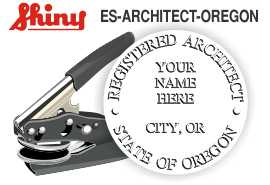 Oregon Architect Embossing Seal