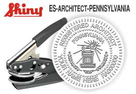 Pennsylvania Architect Embossing Seal