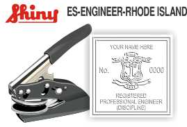 Rhode Island Engineer Embossing Seal