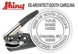 South Carolina Architect Embossing Seal
