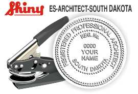 South Dakota Architect Embossing Seal