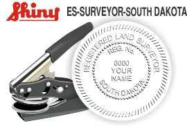 South Dakota Surveyor Embossing Seal
