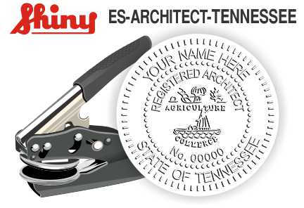 Tennessee Architect Embossing Seal