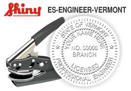 Vermont Engineer Embossing Seal