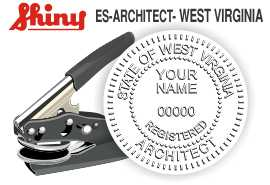 West Virginia Architect Embossing Seal