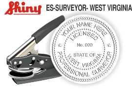 West Virginia Surveyor Embossing Seal