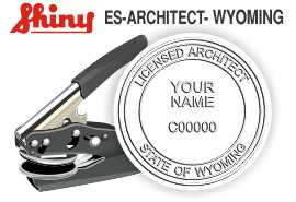 Wyoming Architect Embossing Seal