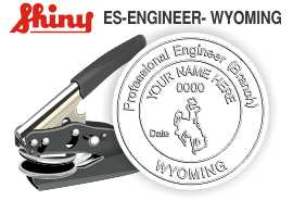 Wyoming Engineer Embossing Seal