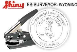 Wyoming Surveyor Embossing Seal
