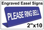 """2"""" x 10"""" Engraved Easel Tabletop Sign"""